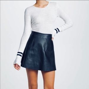🆕from BARNEY's NY, Lisa Perry Lambskin Skirt